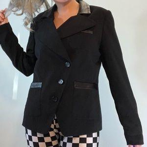 Vintage LanaLee black suit jacket w shoulder pads